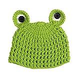 BESTOYARD Cartoon Baby Hüte Handmade Infant Caps Neugeborenen Foto Requisiten Häkeln Strickmütze Unisex Mädchen Jungen Frosch Hüte