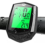 Mountain Bike Speedometer Wireless, ECHOICE Bike Computer Waterproof with Large Screen and 8
