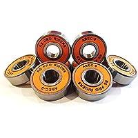 RS Pro Riders - 8 rodamientos de monopatín o scooter ABEC9608 (8x22x7mm), color naranja