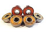 8x Orange Abec 9608(8x 22x 7mm) RS PRO Riders Skate Kugellager Skateboard Roller