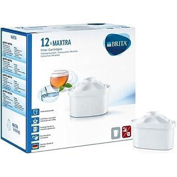 BRITA Filtri MAXTRA per caraffa filtrante, Confezione annuale con 12 filtri MAXTRA
