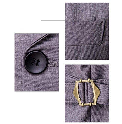 Gentleman Zweireiher Westeklage Der Männer Beiläufige Weste Mode Für Männer Weste 3