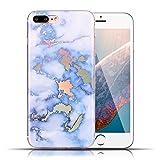 iPhone 7 Plus Coque Silicone Housses Etuis Protection Marbre pour Apple iPhone 8 Plus...