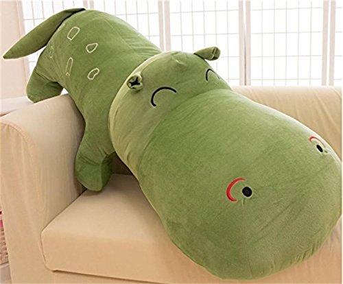 (Hug mee Lovely gefüllt Nilpferde Weich Plüsch Spielzeug kuschelig Snuggle Nilpferde Fuzzy Kissen 120 cm dunkelgrün)