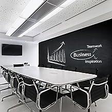 (250 x 100 cm), con funzione di lavagna, per l'ufficio, in vinile, da parete/Spazio ScrumWorks lavagna adesivo decalcomania/adesivo sul riunione-Pastelli con scatola