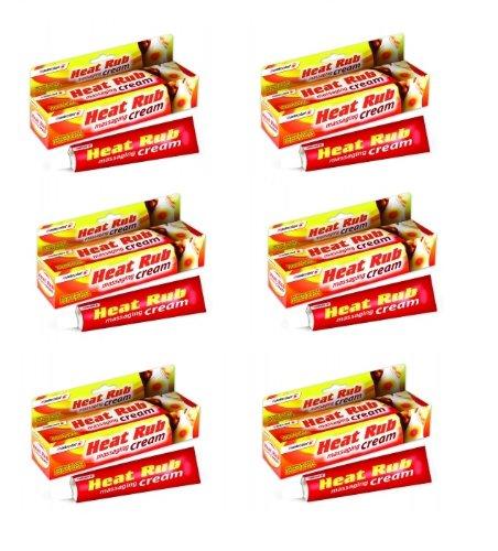 Rub-creme (6x Tubes von Masterplast–Wärme Rub Massieren creme–70g pro Tube Schmerzlinderung)