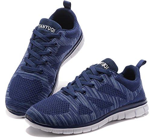 Vibdiv Herren Leichte Outdoor Sportschuhe Fitness Schuhe Blau-B
