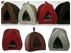 Neuf de luxe chaud pour animal domestique Igloo Cave Maison ~ Petite et grande tailles ~ 4couleurs ~ Chat Chien Chaton Chiot Panier