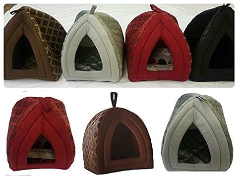 Niche de luxe confortable et chaude en forme d'igloo pour animaux domestiques, peut servir comme maison, panier pour chat, chien, chaton, chiot, offert en petits et grands formats et en 4 couleurs