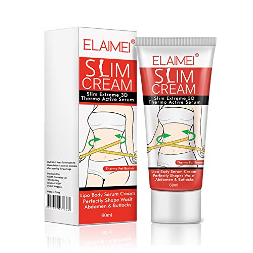 Slim Cream, Cellulite Removal Cream Natural Slimming Fat Burner, Weight Losing Hot Cream for Shaping Waist, Abdomen and Buttocks 60ml