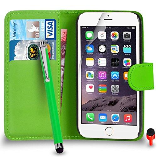 """Apple iPhone 6 / 6S Plus (5.5"""" Inch) Pack 1, 2, 3, 5, 10 Protecteur d'écran & Chiffon SVL2 PAR SHUKAN®, (PACK 5) Portefeuille VERT"""