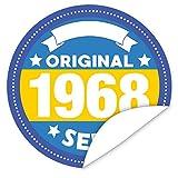 Original seit 1968 Aufkleber   9,5cm groß   rund   inkl.Alles Gute - Postkarte   Individualisieren sie das Geschenk mit einem tollen Sticker