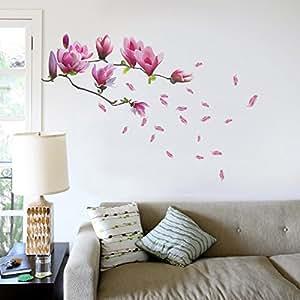 Walplus - Adesivo murale, motivo: fiori di magnolia, misura L