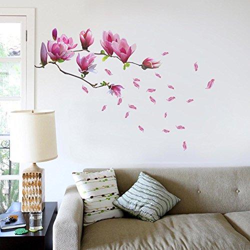 Walplus Wandsticker-Dekoration, große Blüten am Magnolienbaum