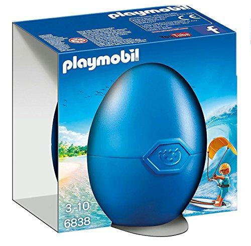 Playmobil Huevos- Kite Surfer Figura Accesorios, 6838
