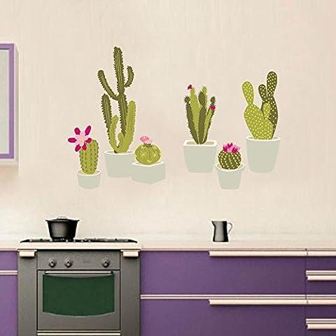 Adesiviamo® Succulens Piante Grasse Wall Sticker Adesivo da Muro