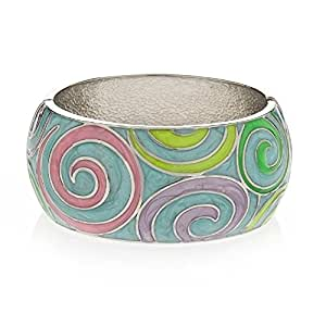 Turquoise Chunky Bangle - Beautiful summer colours - Arrives in a pretty gift bag.