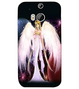 HTC ONE M8 ANGEL GIRL Back Cover by PRINTSWAG