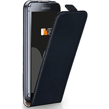 moex Samsung Galaxy S5 Mini | Hülle Schwarz 360° Klapp-Hülle Etui Thin Handytasche Dünn Handyhülle für Samsung Galaxy S5 Mini Case Flip Cover Schutzhülle Kunst-Leder Tasche