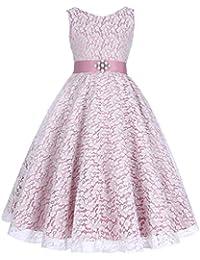GRACE KARIN® Sweet Prinzessin Lace Blumenmädchenkleider für Hochzeits Brautjungfern Festzug Partei Festliches Kleid