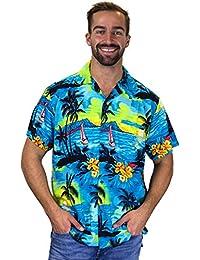 Original King Kameha | Funky Camisa Hawaiana Señores | XS -12XL | Manga Corta | Bolsillo Delantero | impresión De Hawaii| Surf |diferentes colores