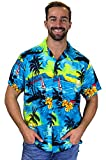 Funky Hawaiihemd, Surf, türkis, L