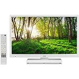 "Logik L24HEDW14 24"" Inch White HD Ready LED TV DVD Combi PC Input HDMI USB Record Pause Play Live TV. (White)"