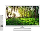 "Logik L24HEDW18 24"" Inch White HD Ready LED TV DVD Combi PC Input"
