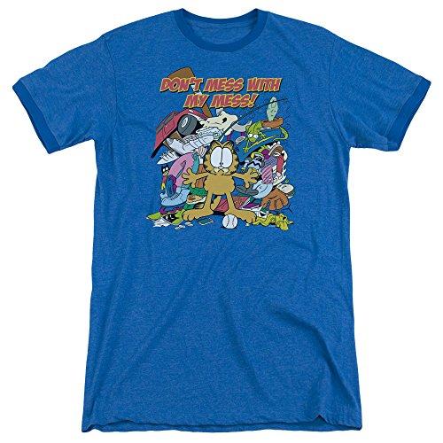 Garfield Männer ist mein Mess-Wecker-T-Shirt, Small, Royal Blue