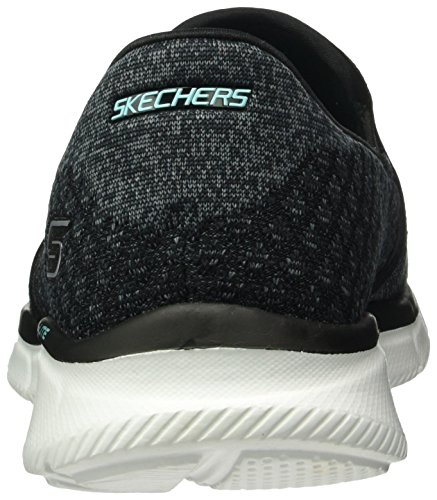 Skechers Damen Equalizer Say Something Sneakers Schwarz (Bkw)