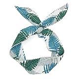 ASHOP Damen Twist Bow Wired Stirnbänder Turban Haarschmuck Elastischer Netter Druck Haarband,Grün