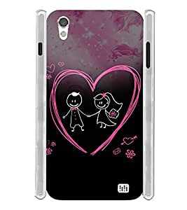 Love Couple Soft Silicon Rubberized Back Case Cover for InFocus M370