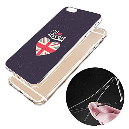 IPHONE 6plus Hülle USA Deutschland Fahne Muster Silikon TPU Schutzhülle Ultradünnen Case für iPhone 6plus/6splus gq7
