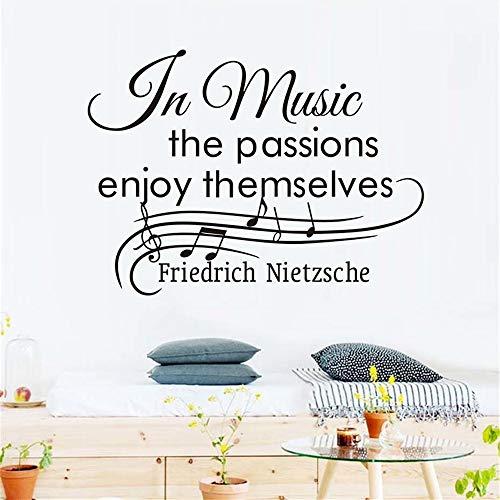 Wandtattoo Kinderzimmer Wandtattoo Schlafzimmer In der Musik genießen die Passionen sich musikalische Note Decals Kids ()