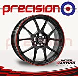 "Set of 4 x 15"" PHOENIX Black/Red Alloy Wheels for Ḱia Rio DC_ (00-05) Part No.V15654100E42ZR73IPH-26188"