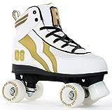 Rio Roller Varsity Quad Unisex Kinder Skates ,Weiß / Gold (white / gold),38 EU(5 UK)