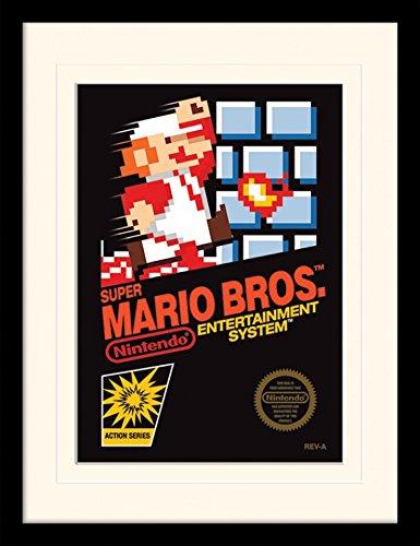 (1art1 102022 Super Mario - Bros. NES Cover Gerahmtes Poster Für Fans Und Sammler 40 x 30 cm)