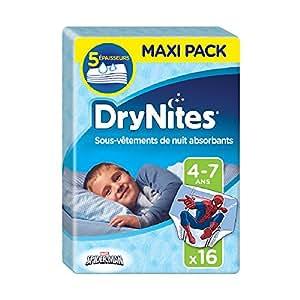 Huggies DryNites Mutandine Assorbenti per la Notte, 4-7 Anni (17-30 kg), 2 Pacchi da 16 Pezzi