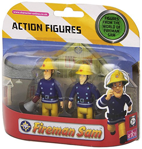 Feuerwehrmann Sam Action Figuren 2er Pack - Sam mit Megafon und Elvis [UK Import]