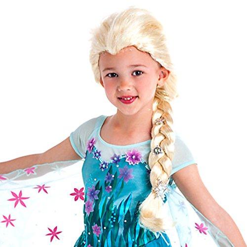 Die Eiskönigin - völlig unverfroren - Elsa Kostümperücke - (Kind Elsa Perücke)