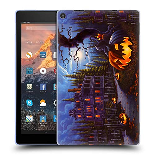 (Head Case Designs Offizielle Geno Peoples Art Irrlicht Spur Halloween Soft Gel Hülle für Amazon Fire HD 10 (2017))