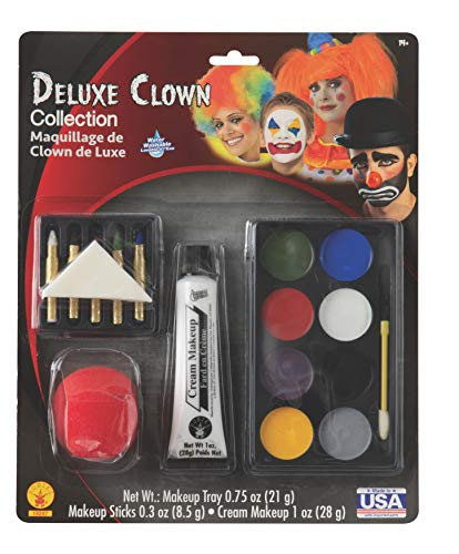 Deluxe Clown Make-Up Kit by Rubie's (Make-up Kit Clown)