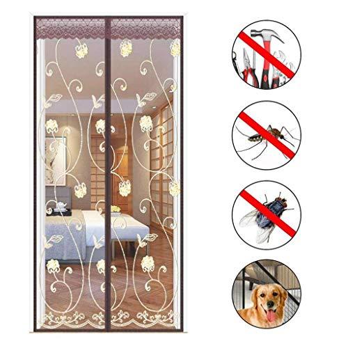 Wghz Feng Screen Doors, Magnetic Fly Insektenschutztür Automatisch geschlossen, faltbar, Wohnzimmer, Terrassentür - 80X220cm