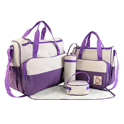 Tasche, feiXIANG Fünf-Stück-Kombination große Kapazität MOM Bag Multifunktions-Tasche Purple
