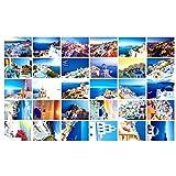 Schöne Reise-Landschaft 30PCS Künstlerische Retro Postkarten-Santorini