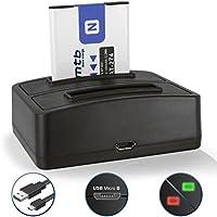 Batteria + Caricabatteria doppio (USB) NP-BN1 per Sony Cyber-shot DSC-WX100,