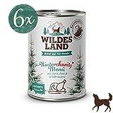 Wildes Land | Nassfutter für Hunde | Wintercharity | 6 x 400 g | mit Distelöl | Glutenfrei | Extra hoher Fleischanteil Akzeptanz und Verträglichkeit | Rohstoffe aus der Lebensmittelproduktion
