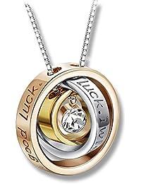 PURA COLLECTION Collar Mujer Plata de Ley 925 Original - Incluye Cadena de Plata de Ley
