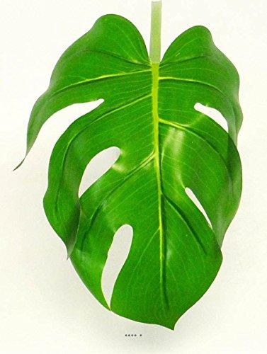 Artificielles Künstliche–Blatt Philodendron H 56cm Stoff Kunststoff beschichtetes für Außen D 20cm