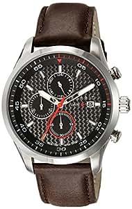 Esprit - ES108391003 - Montre Homme - Quartz - Chronographe - Bracelet cuir Marron